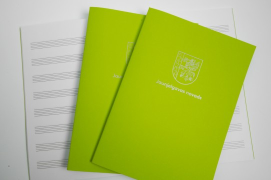Music notebook print