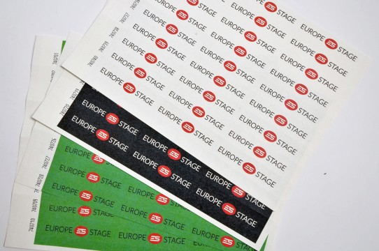 Paper wristbands with printing