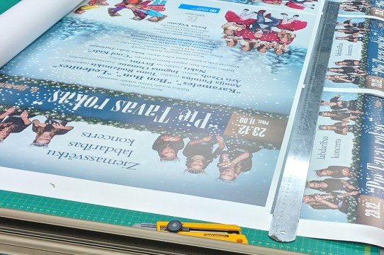 Large-format printing, posters