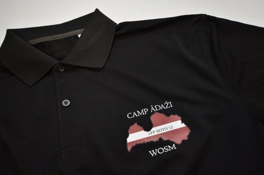 Screen printing on polo shirt