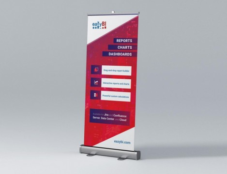 Roll up stand print
