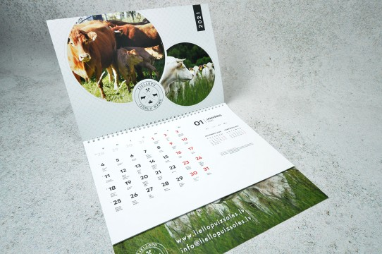 Production of wall calendars