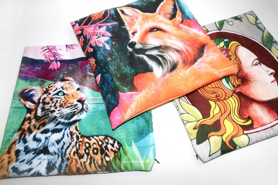 pillowcases with imprinting in sublimation
