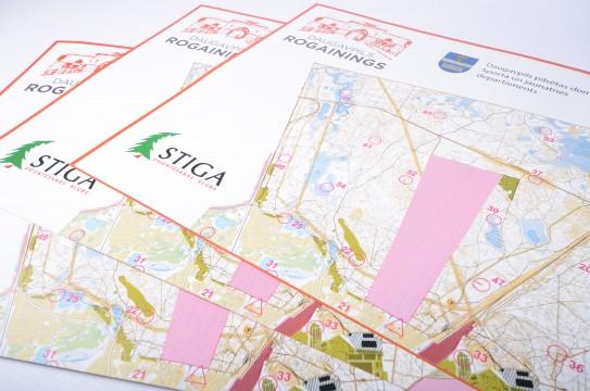 Orienteering card printing