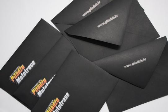 black envelope printing