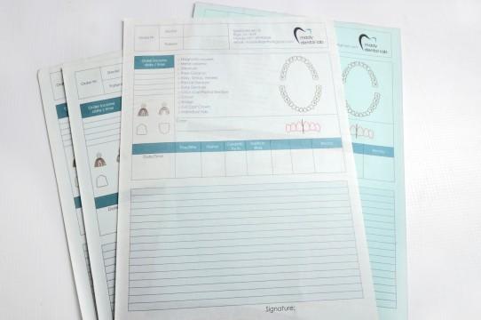 Self-copying forms printing