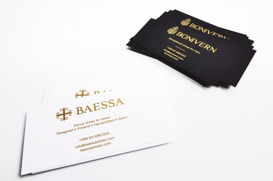 Business cards print with gold