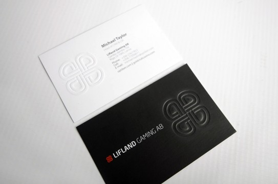 business cards production
