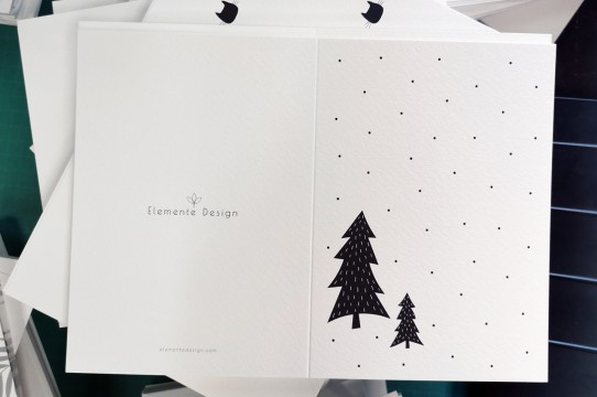Christmas card production