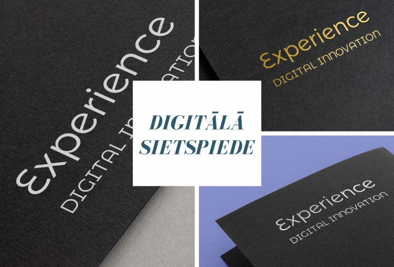 Digital printing with gold, silver, white, neon or varnish