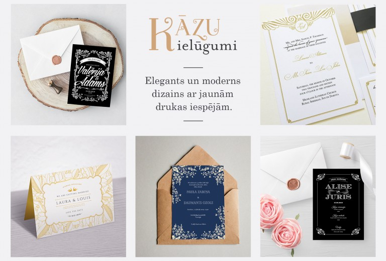 Wedding invitations production
